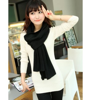 (2988 REWARD POINTS TO REDEEM) Black Color Women Scarf