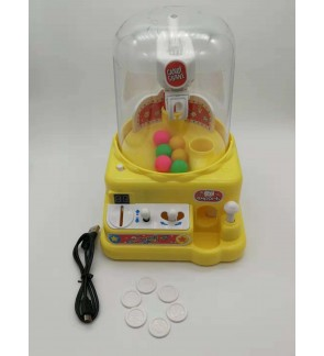 Mini Catcher machine for children battery Grab ball candy crabber Gum crane toys
