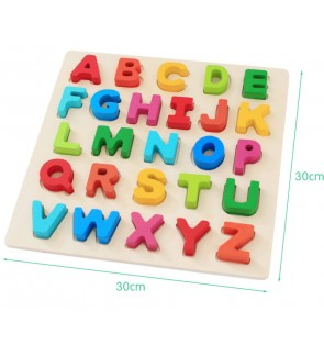 Kid Learning 26pcs Alphabet Upper case Lower case Spelling Wooden Puzzle set