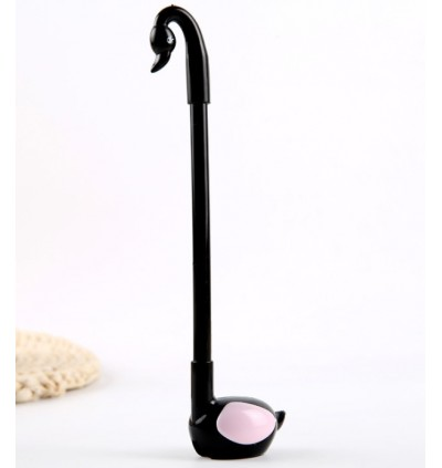 (Ready stock) 0.5mm Pen with holder Cutie Swan Design desktop Black Ball Pen gift
